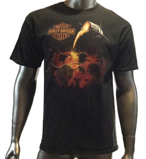 Harley Davidson T Shirt Milwaukee Steel Daytona Beach Fl Size Large Col Black