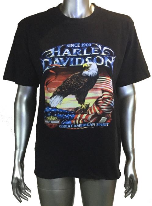 Harley Davidson T Shirt Rice Lake Size M Black