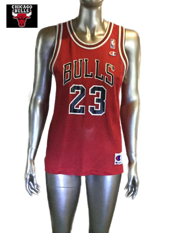 online store 109a7 8906f Vintage Michael Jordan Chicago Bulls Champion Jersey Youth ...