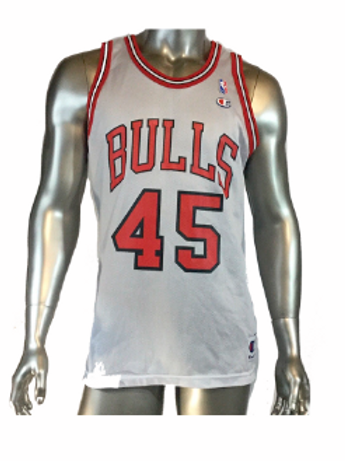 new styles 2cd57 e1b46 Vintage Throwback Michael Jordan #45 white home Bulls Jersey NBA Champion  44 | sinaitex