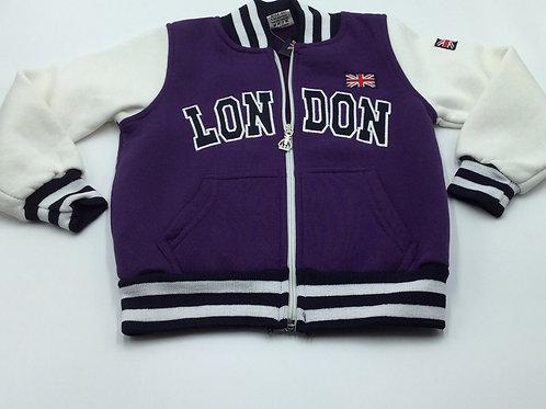 NWT London England Zip Up Hoodie Sweatshirt, Size 5/6