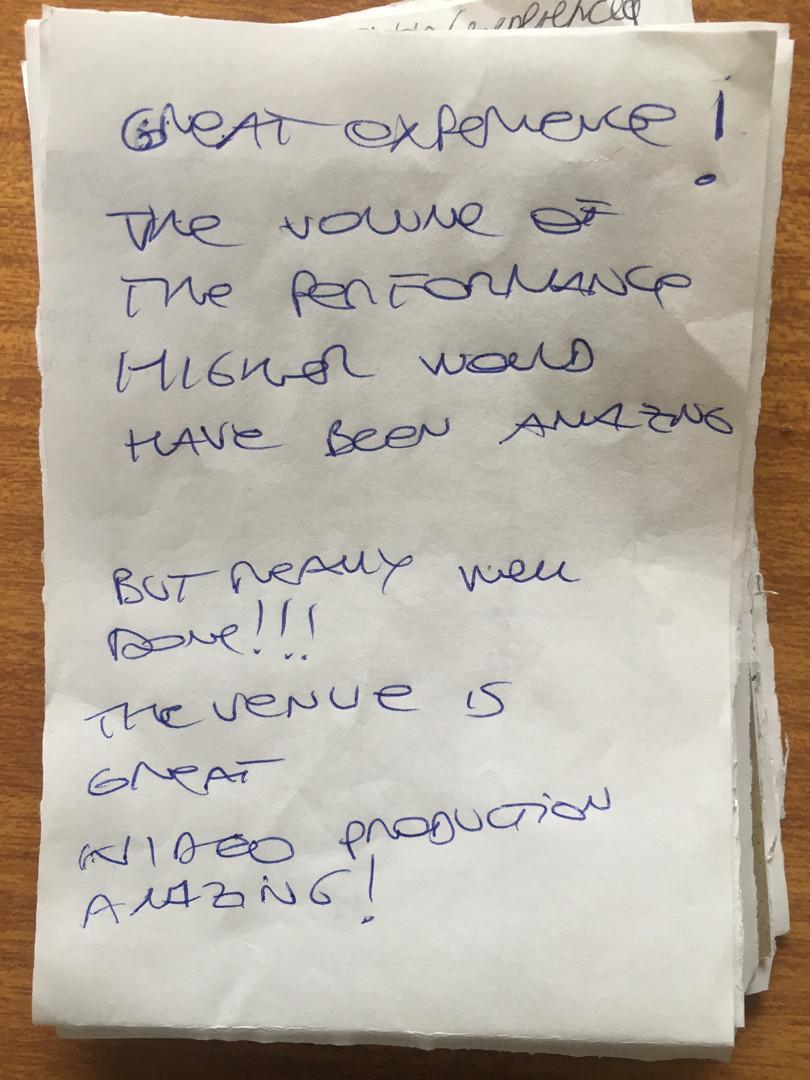 Audience feedback & reflection