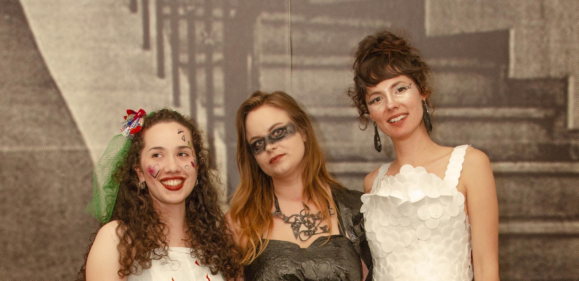 Rose, Erin, Asha in costume