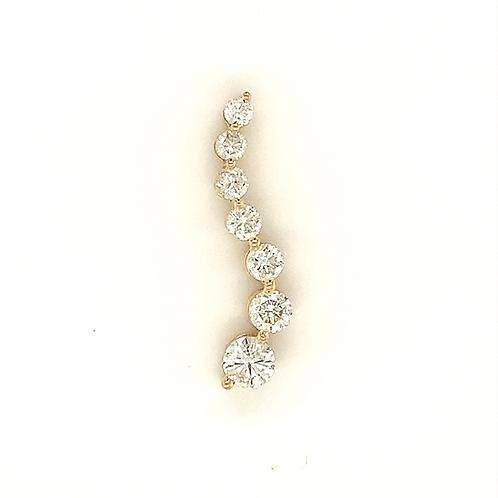 Diamond Dangle Pendant, in 14k Yellow Gold