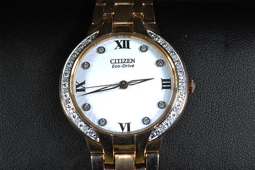 Citizen Bella Diamond Accented Stainless Watch