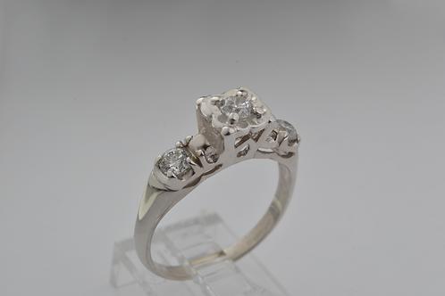 Heirloom Diamond Ring, in 14k White Gold
