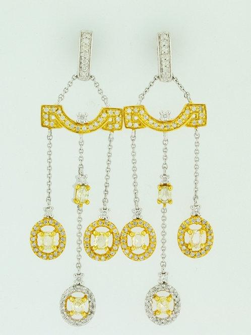 3ct Fancy Diamond Earrings