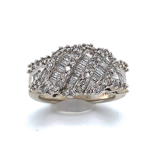 Fashion Diamond Ring, in 14k White Gold