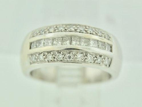 Princess-cut Diamond Band, Set in 14k White Gold