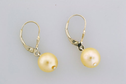 Pearl Dangle Earrings, Set in Sterling Silver