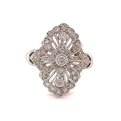 Diamond Ring, set in 14k White Gold