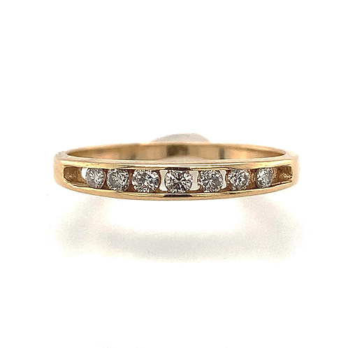 Round-Cut Channel-Set Diamond Band, in 14k Yellow Gold
