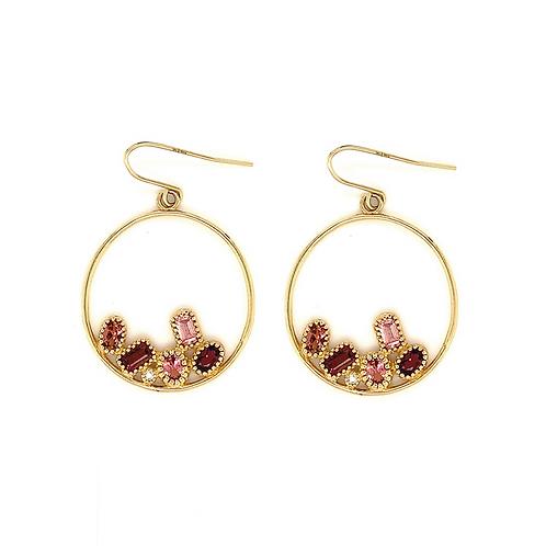 Tourmaline and Diamond Dangle Earrings, in 14k Yellow Gold