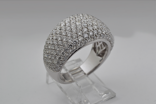 Multi-Row Diamond Ring, in 18k White Gold