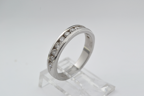 Channel Set Diamond Ring, in 14k White Gold