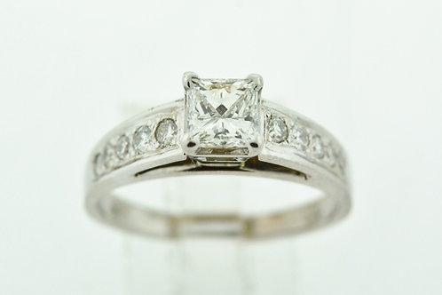 Princess Diamond Engagement Ring, in 14k White Gold