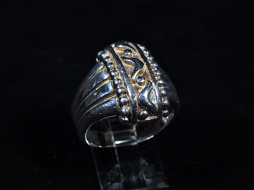 Sterling Silver Two-Tone Wide Band