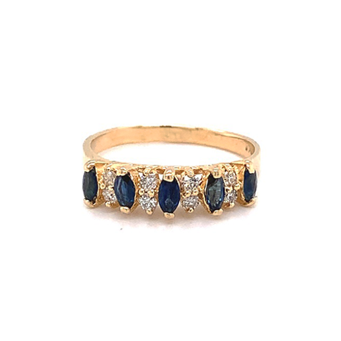 Sapphire and Diamond Ring, in 14k Yellow Gold