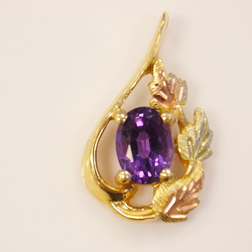 Amethyst Pendant in 10k Black Hills Gold