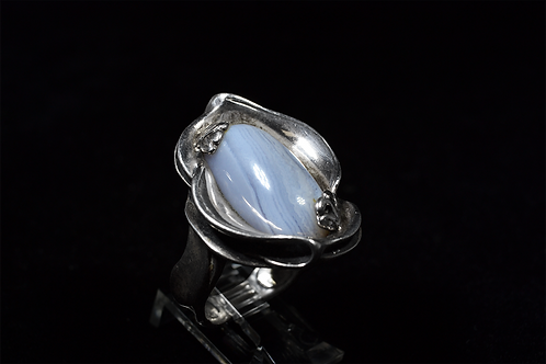 Sterling Silver Oval Agate Ring