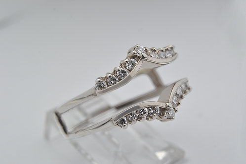 Flare Nested Diamond Ring Stack, in 14k White Gold