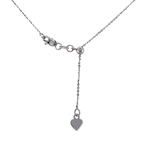 """20"""" Adjustable Chain Necklace, in 14k White Gold"""