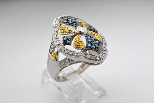 Diamond Fashion Ring in 10k White Gold