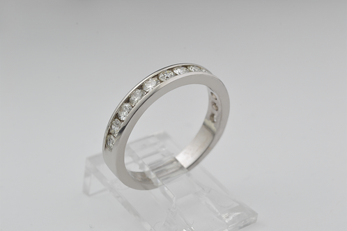 Diamond Channel Band in 14k White Gold