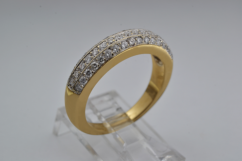 Pavé-Set Diamond Band, in 18k Yellow Gold