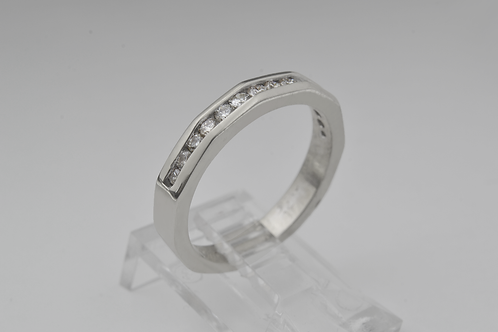 Channel-Set Diamond Ring, in 14k White Gold