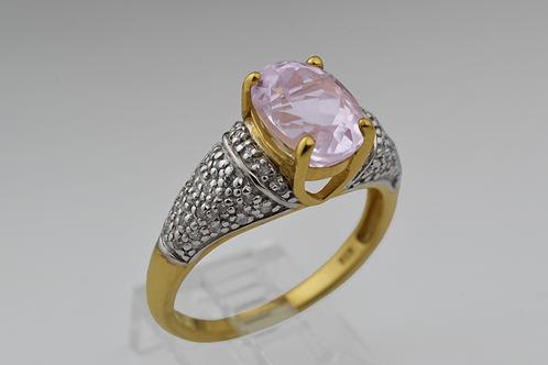 Morganite and Diamond Ring, in 14k Yellow Gold