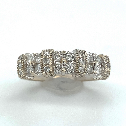 Round Diamond Ring, in 14k White Gold