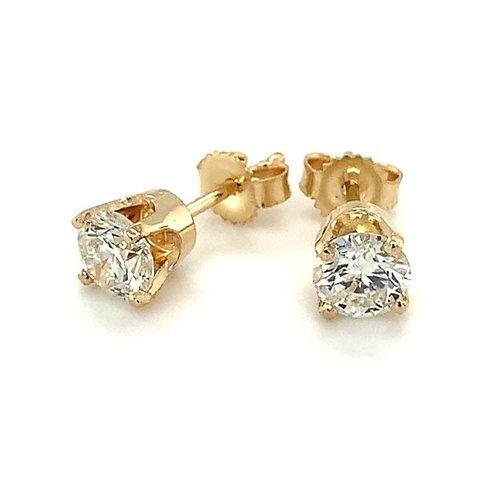 Lab Diamond Stud Earrings, in 14k Yellow Gold
