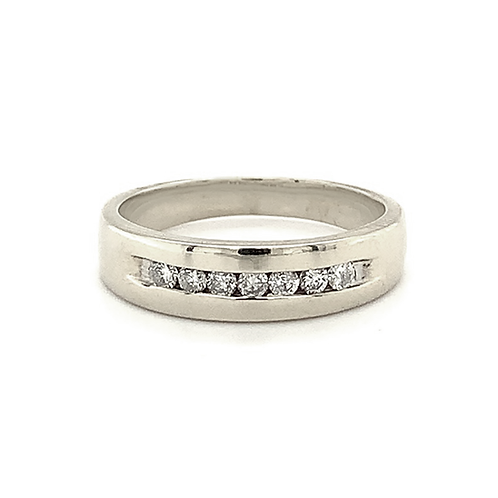 Channel-Set Diamond Band, in 14k White Gold