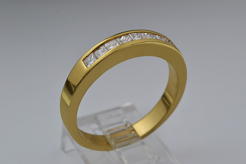 Square-Cut Channel-Set Band, in 14k Yellow Gold