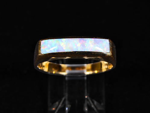 Opal Ring, in 14k Yellow Gold
