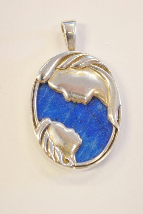 Sterling Silver Lapis Pendant