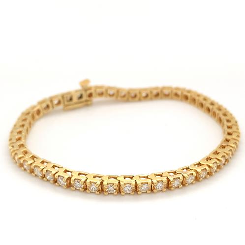 Diamond Tennis Bracelet, in 14k Yellow Gold