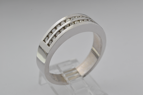 Round-Cut Channel-Set Diamond Band, in 14k White Gold