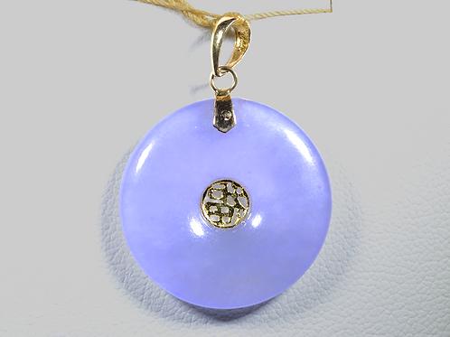 Lavender Jade Pendant, in 14k Yellow Gold