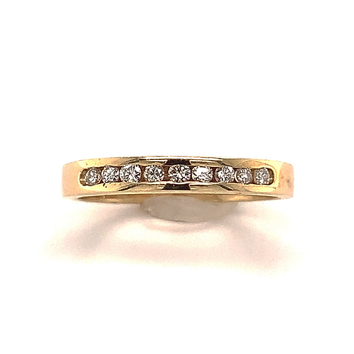 Round-Cut Channel-Set Band, in 14k Yellow Gold
