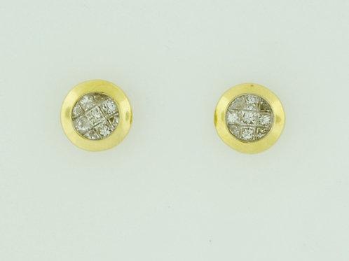 1/2ct Princess-cut Diamond Studs