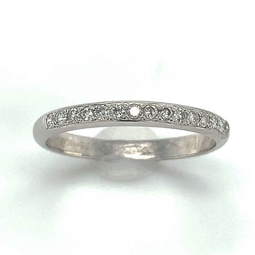 Diamond Accented Band, in 14k White Gold