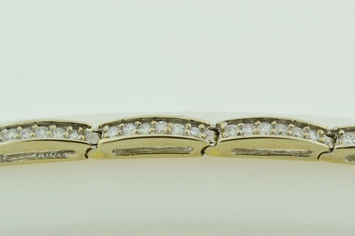 Pavé-set Diamond Tennis Bracelet, Set in 14k White Gold