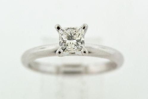 Princess Diamond Engagement Ring in 14k White Gold