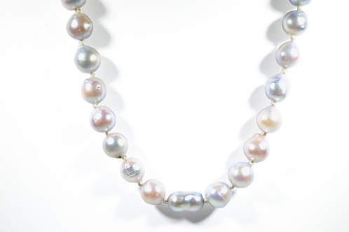 """17"""" Baroque Pearl Necklace with Antique Clasp"""