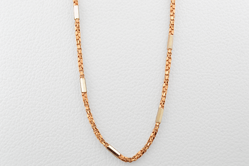 "20"" Bar & Box Chain, in 14k Rose Gold"