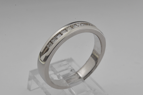 Princess-Cut Channel-Set Band, in 14k White Gold