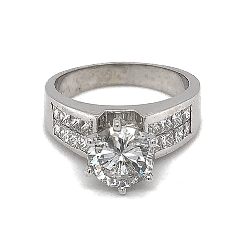 Diamond Ring, in 18k White Gold