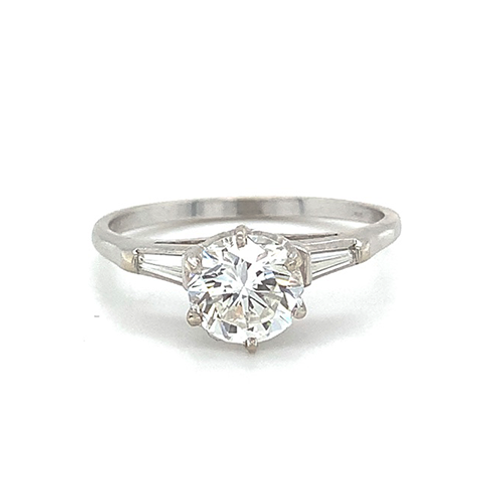 Round Brilliant Cut Diamond Ring, in 14k White Gold